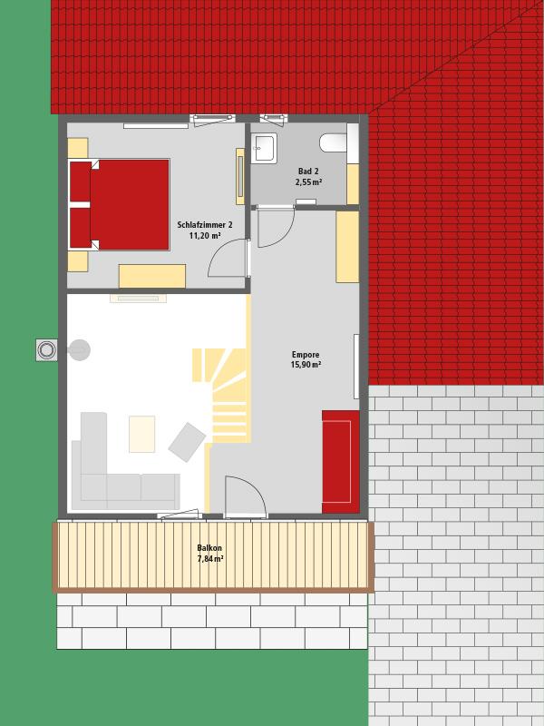 Schaefer Ferienhaus . Via Claudia 54 . Grundriss Dachgeschoss